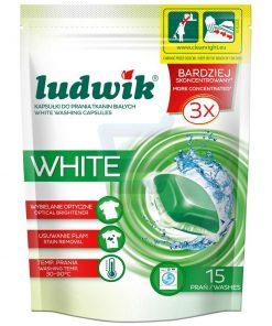 Chế phẩm làm sạch quần áo trắng dùng cho máy giặt Ludwik